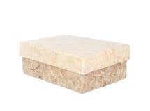 Morwowy papierowy pudełko odizolowywający na bielu Obraz Stock