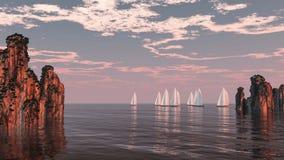 Morza ścigać się Obraz Royalty Free