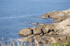 Morza Śródziemnomorskiego wybrzeże Zdjęcie Stock