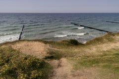 Morza Bałtyckiego wybrzeże blisko Ahrenshoop Zdjęcia Royalty Free