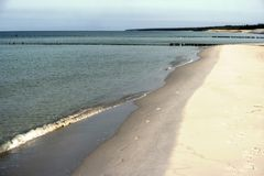 Morza Bałtyckiego wybrzeże blisko Ahrenshoop Obrazy Royalty Free