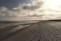 Morza Bałtyckiego wybrzeże blisko Ahrenshoop Fotografia Stock
