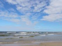 Morza Bałtyckiego wybrzeże, Lithuania Obraz Stock
