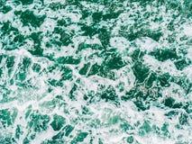 Morza i oceanu wodnej fala powierzchnia i tekstury Obraz Stock
