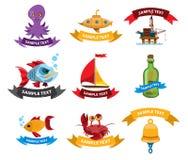 Morza i pirata logowie Zdjęcie Royalty Free