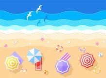 Morza i plaży wektoru ilustracja Zdjęcie Royalty Free