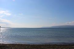 Morza i spokoju nieba fotografia stock