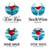 Morza i wina loga szablon Zdjęcia Royalty Free