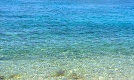 Morza Karaibskiego lata fala dolny tło Egzotyczna wody morskiej natura Natura tropikalny wodny raj Kuba natury wakacje Vacati Fotografia Stock