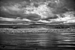 Morza lub oceanu wodne fala w Reykjavik, Iceland Fotografia Stock