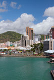 Morza miasto i zatoka ludwika Mauritius port Obraz Stock