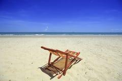 Morza niebieskie niebo przy Tajlandia i plaża Obrazy Stock