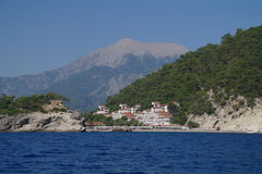 Morza wybrzeże, Turcja. obrazy stock