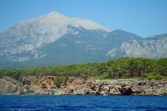 Morza wybrzeże, Turcja. fotografia royalty free