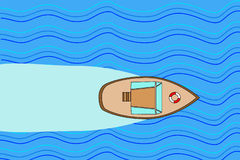 morze, łódź Zdjęcie Royalty Free