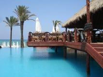 morze Śródziemne plażowy kurort fotografia stock