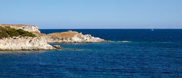 Morze Śródziemnomorskie, Grecja Zdjęcia Royalty Free