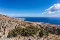 Morze Śródziemnomorskie i Imbros wąwóz Grecja crete Obraz Stock