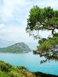 Morze Śródziemnomorskie indyk linia brzegowa krajobraz Zdjęcie Stock