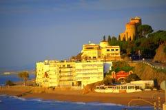 Morze Śródziemnomorskie kurort, Hiszpania zdjęcia royalty free