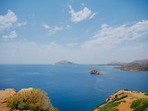 Morze Śródziemnomorskie od świątyni Poseidon fotografia royalty free