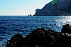 Morze Śródziemnomorskie w południowym France obrazy stock