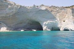 Morze Śródziemnomorskie Zawala się Fotografia Royalty Free