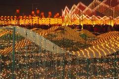 Morze światła przy Tajwańskim Latarniowym festiwalem obraz royalty free
