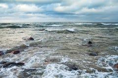 morze bałtyckie burzowy obraz royalty free