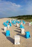 Morze Bałtyckie plaża w Ahlbeck, Niemcy Fotografia Stock