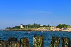 Morze Bałtyckie, plaża w mieście Zelenogradsk Fotografia Stock
