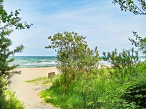 Morze Bałtyckie plaży dostęp obrazy royalty free
