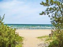 Morze Bałtyckie plaży dostęp fotografia royalty free