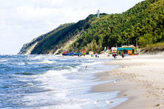 Morze Bałtyckie Polska Wolina - wybrzeże Zdjęcie Stock