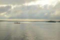Morze Bałtyckie widok od statku obrazy stock