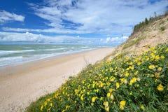 Morze Bałtyckie brzeg w Jurkalne Zdjęcia Royalty Free