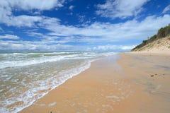 Morze Bałtyckie brzeg w Jurkalne Zdjęcie Stock