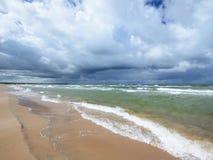 Morze Bałtyckie brzeg w Jurkalne Fotografia Stock