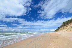 Morze Bałtyckie brzeg w Jurkalne Obrazy Royalty Free