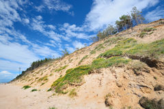 Morze Bałtyckie brzeg w Jurkalne Obraz Royalty Free