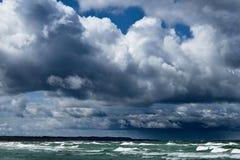 Morze Bałtyckie brzeg w Latvia Obrazy Royalty Free