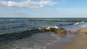 Morze Bałtyckie kipieli wiatr i fala Obrazy Stock