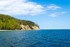 Morze Bałtyckie w Gdynia Orlowo Obraz Royalty Free