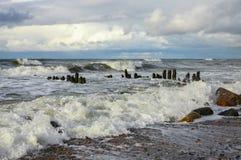 Morze Bałtyckie w jesieni Obrazy Royalty Free
