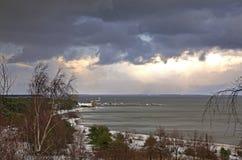 Morze Bałtyckie w Nida baltic mierzeja brzegowa curonian denna Lithuania Zdjęcia Royalty Free