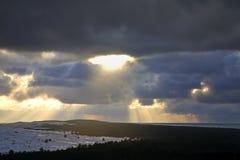 Morze Bałtyckie w Nida baltic mierzeja brzegowa curonian denna Lithuania Zdjęcia Stock