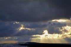 Morze Bałtyckie w Nida baltic mierzeja brzegowa curonian denna Lithuania Obraz Royalty Free