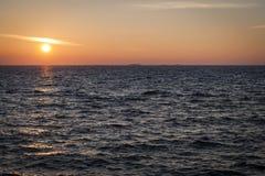 morze bałtyckie zmierzch Zdjęcia Royalty Free