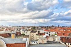 Morze Berlin domy z cloudscape Obrazy Royalty Free