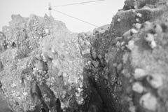 Morze, burza, osoba Fotografia Stock